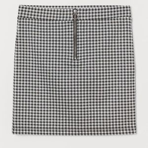 Women's checkered skirt
